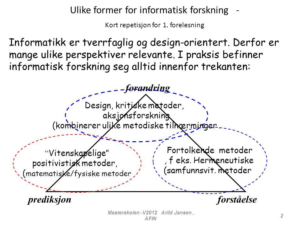Masterskolen -V2012 Arild Jansen , AFIN