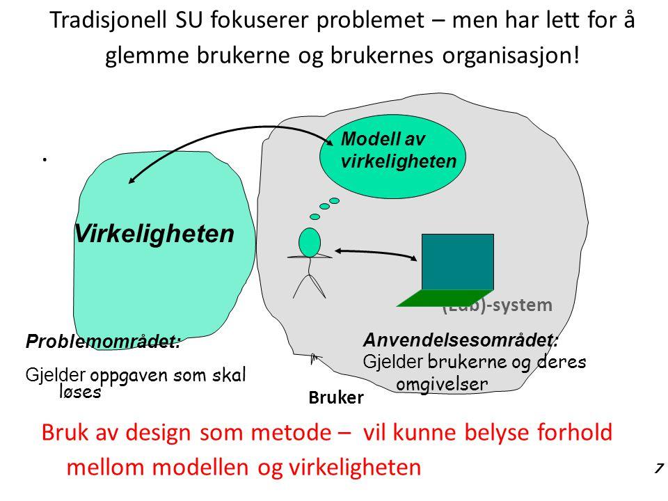 27.08.06 Tradisjonell SU fokuserer problemet – men har lett for å glemme brukerne og brukernes organisasjon!