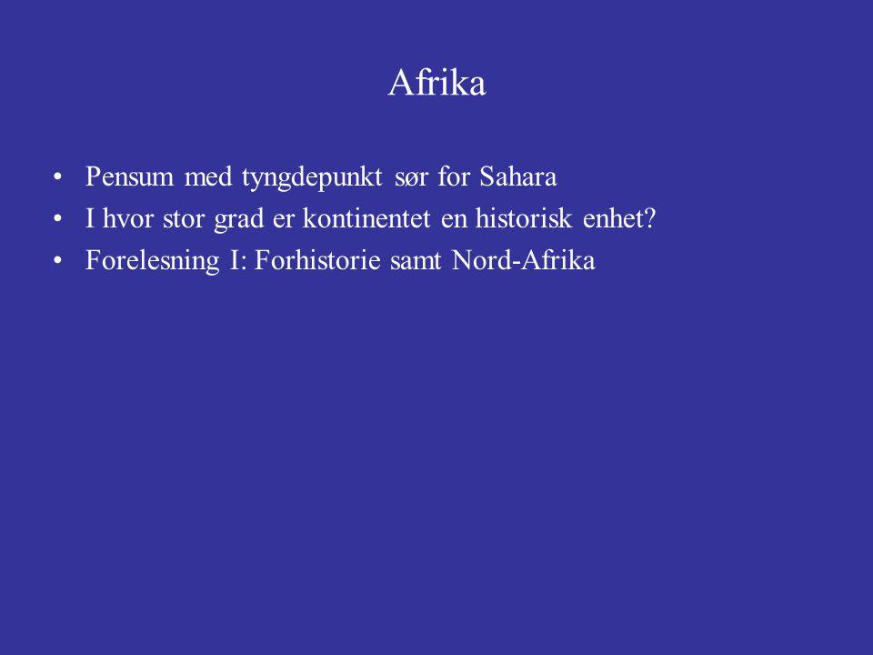 Afrika Pensum med tyngdepunkt sør for Sahara