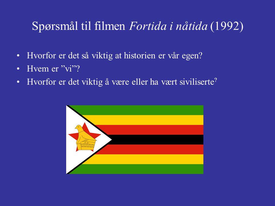 Spørsmål til filmen Fortida i nåtida (1992)