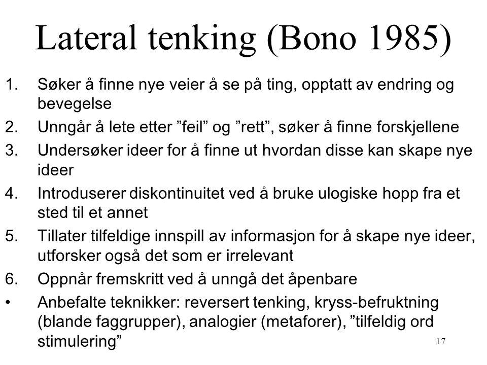 Lateral tenking (Bono 1985)