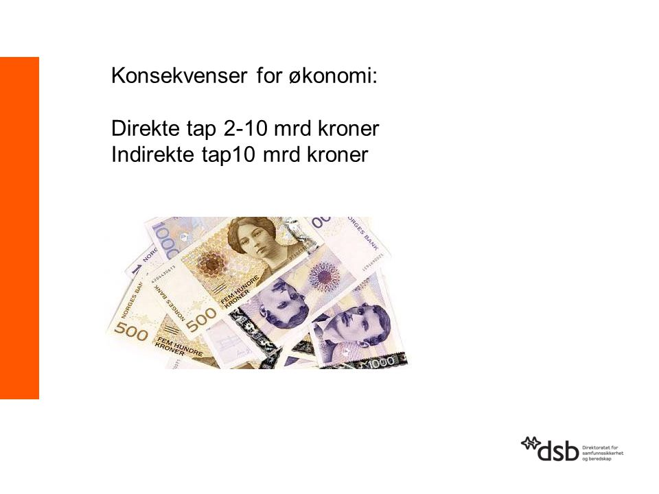 Konsekvenser for økonomi:
