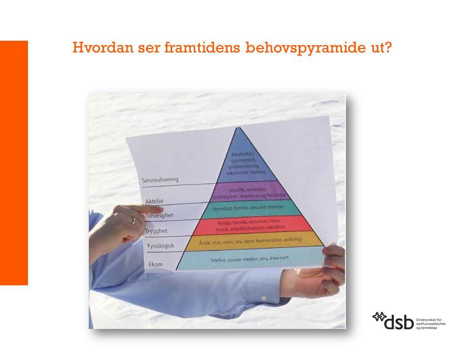Hvordan ser framtidens behovspyramide ut
