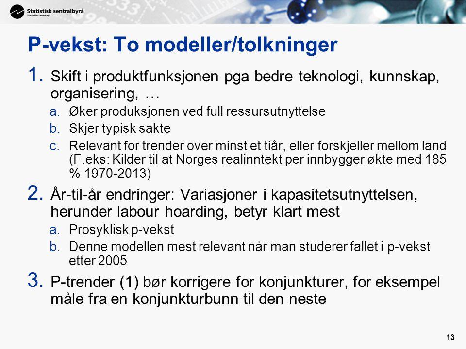 P-vekst: To modeller/tolkninger