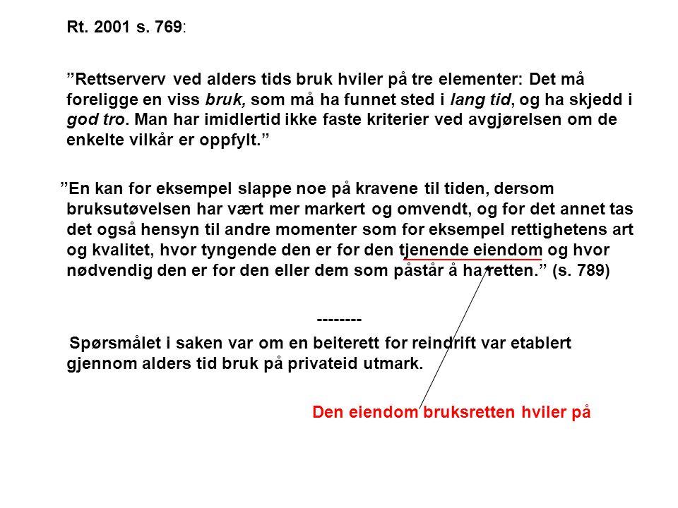 Rt. 2001 s. 769: