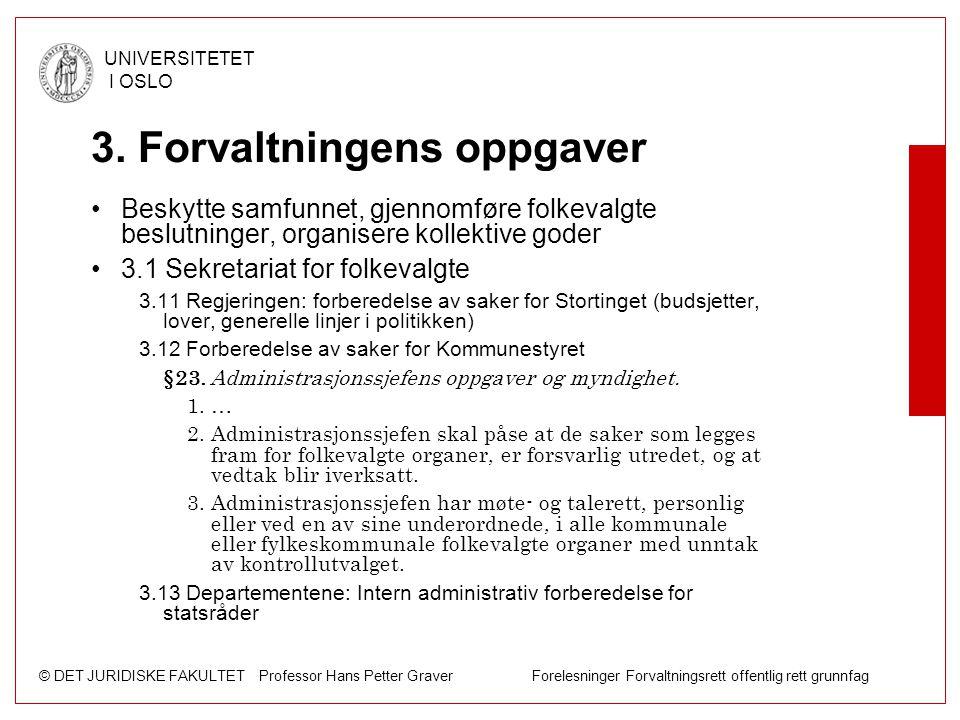 3. Forvaltningens oppgaver