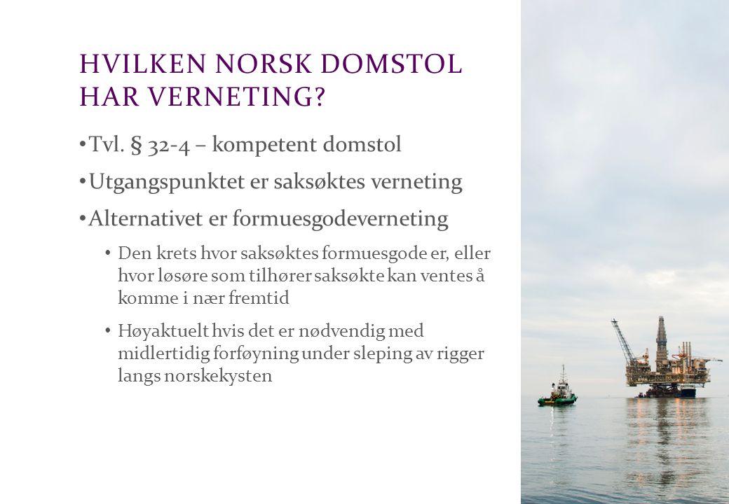 Hvilken norsk domstol har verneting