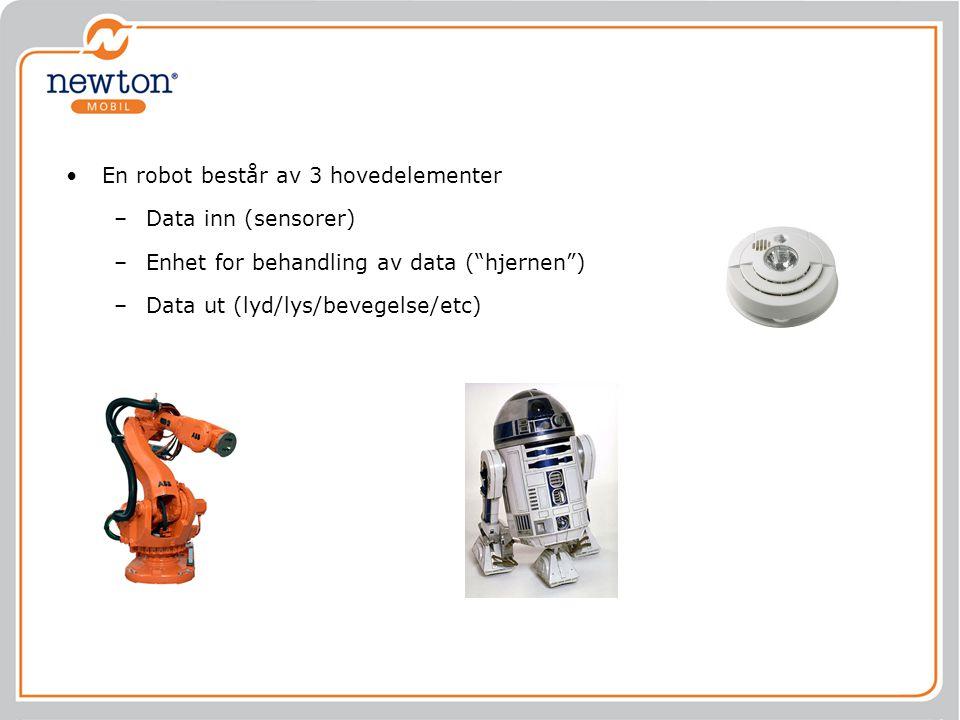 En robot består av 3 hovedelementer