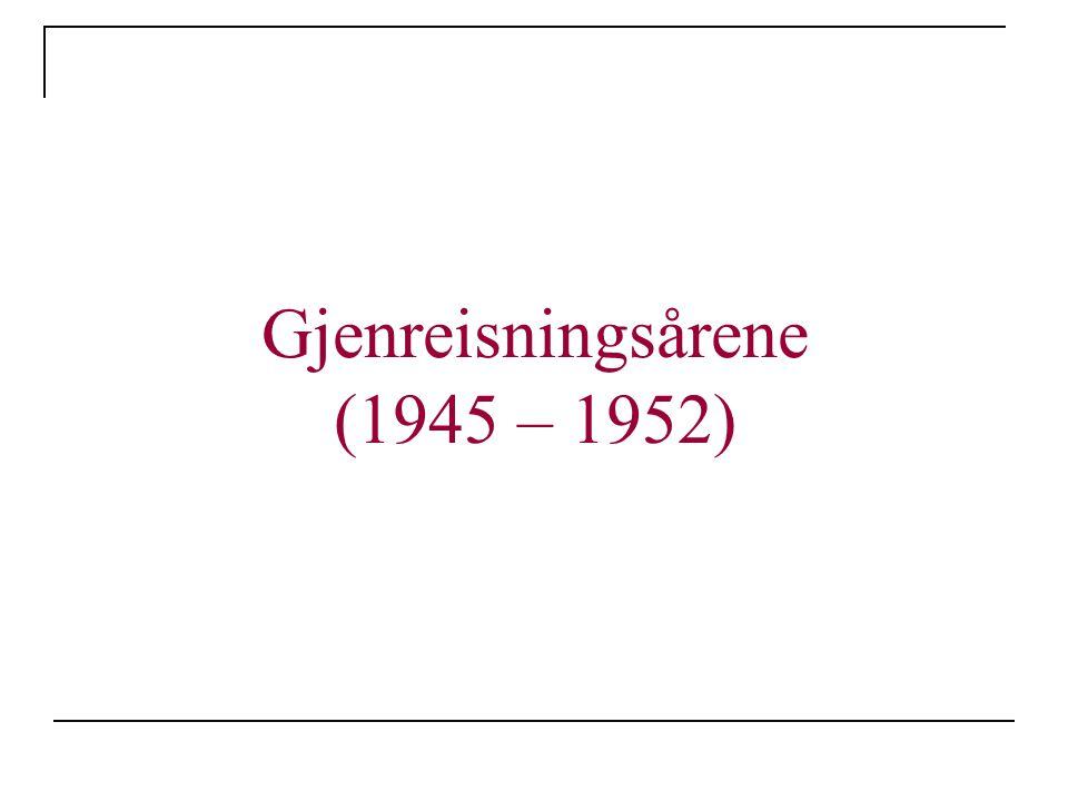 Gjenreisningsårene (1945 – 1952)