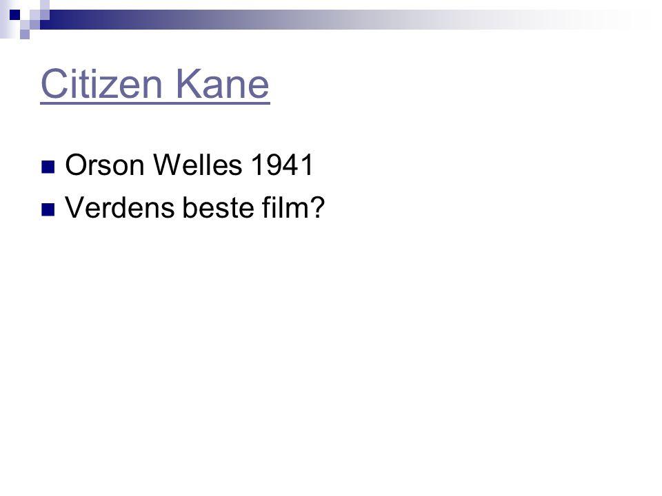 Citizen Kane Orson Welles 1941 Verdens beste film