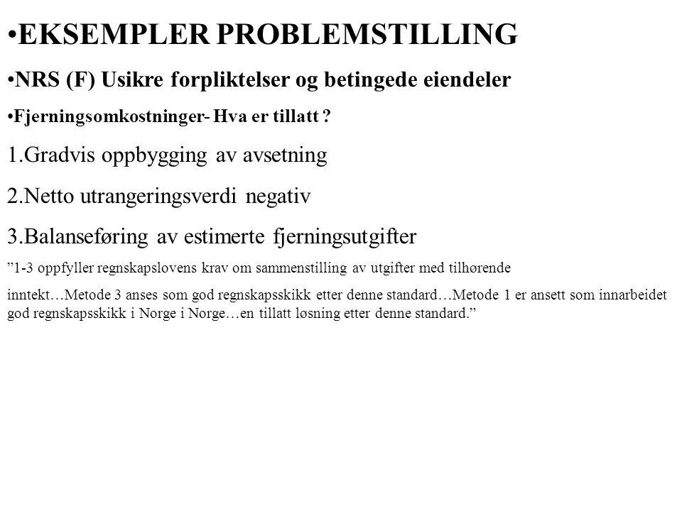 EKSEMPLER PROBLEMSTILLING