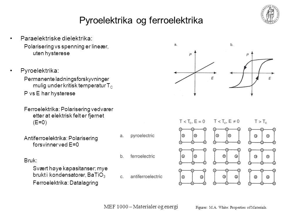 Pyroelektrika og ferroelektrika