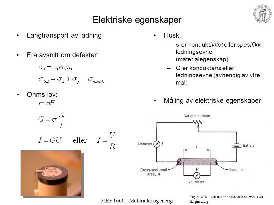 Elektriske egenskaper