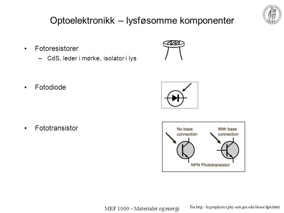 Optoelektronikk – lysføsomme komponenter