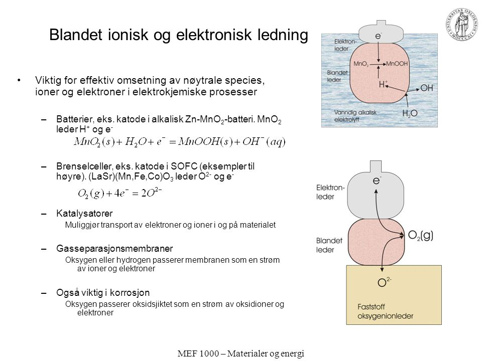 Blandet ionisk og elektronisk ledning