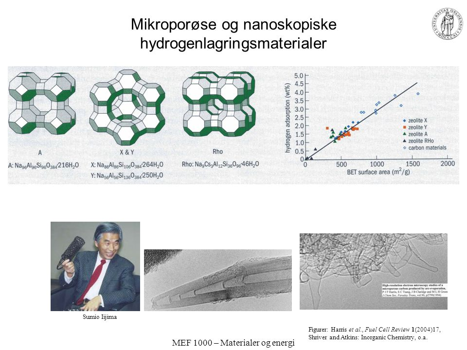 Mikroporøse og nanoskopiske hydrogenlagringsmaterialer