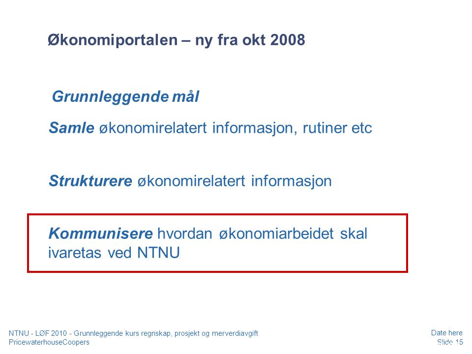 Økonomiportalen – ny fra okt 2008