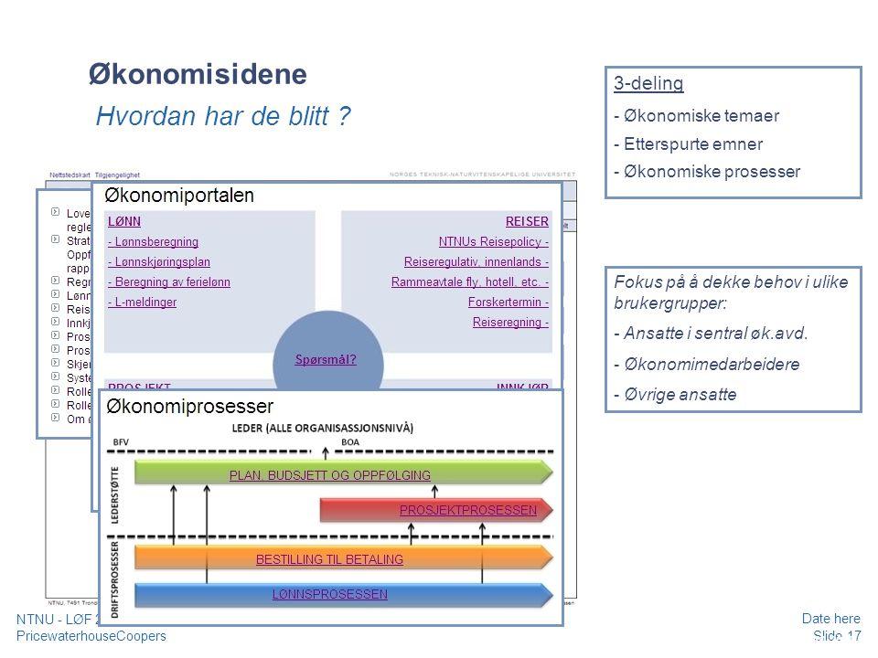 Økonomisidene Hvordan har de blitt 3-deling - Økonomiske temaer
