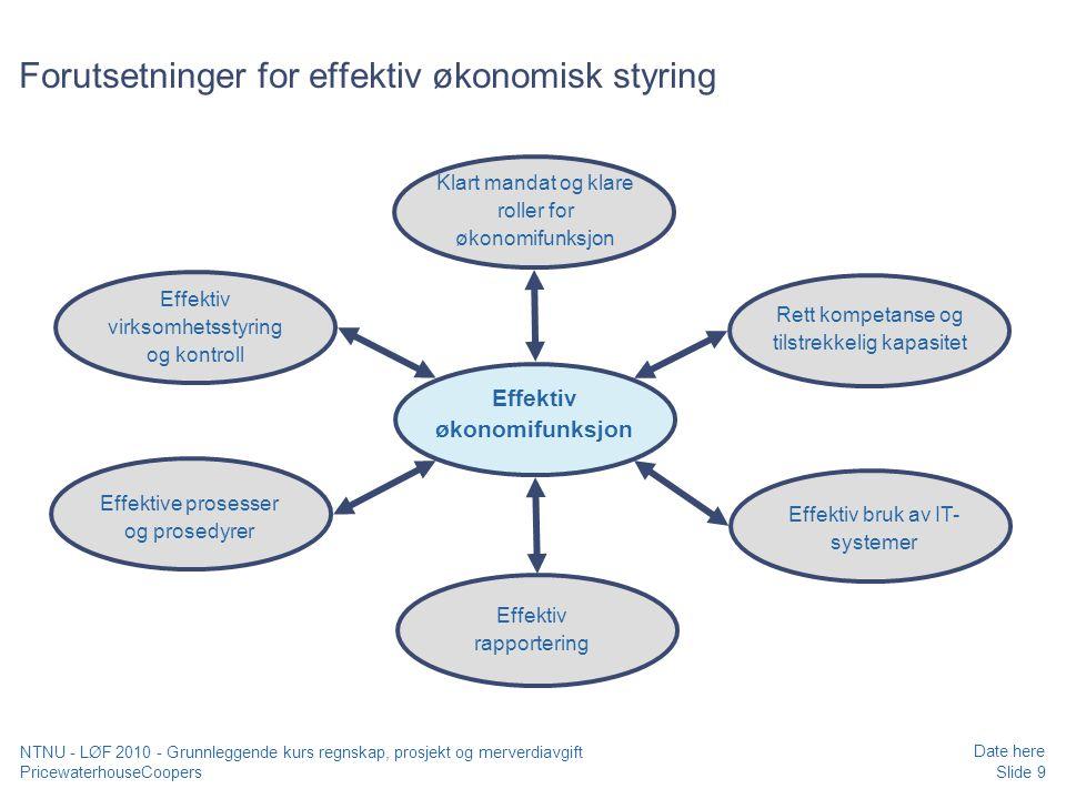 Forutsetninger for effektiv økonomisk styring
