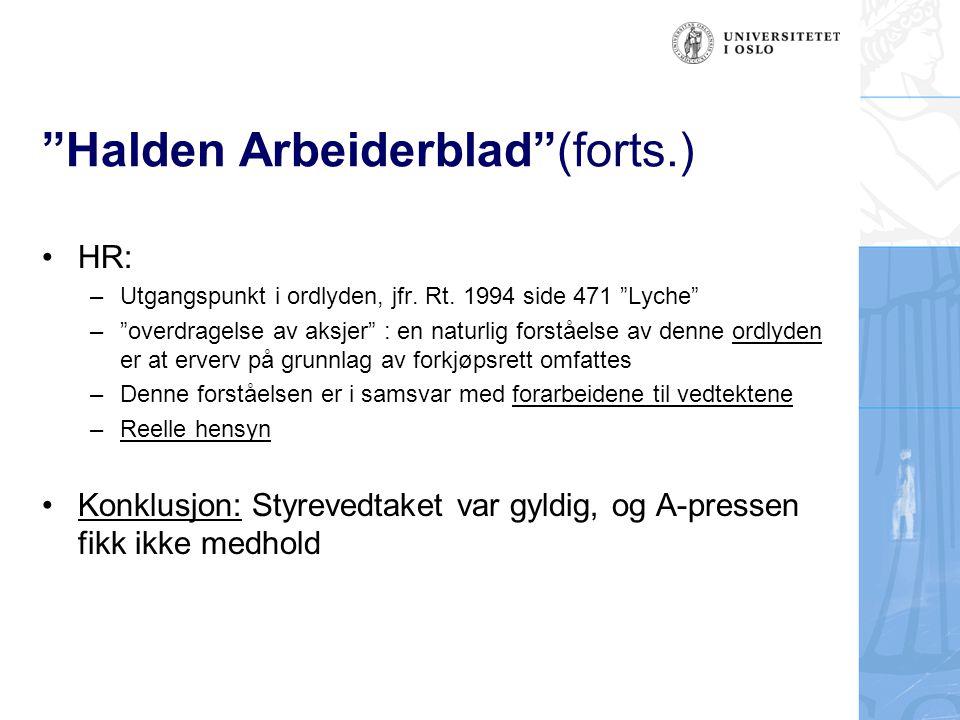 Halden Arbeiderblad (forts.)