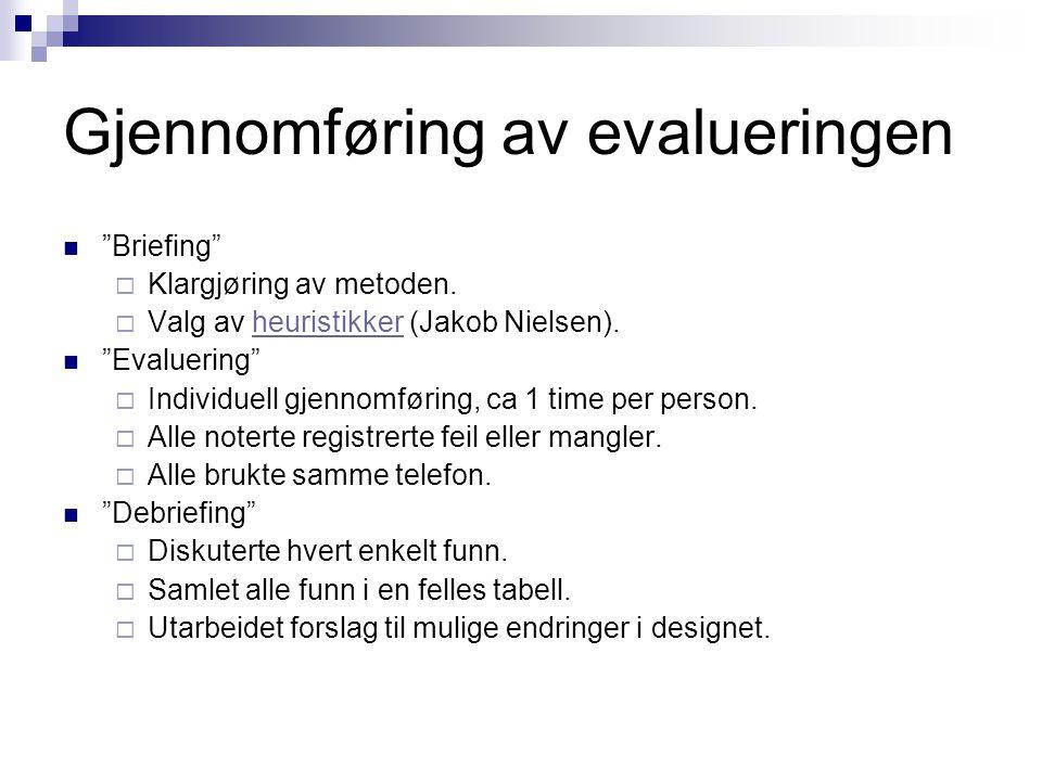 Gjennomføring av evalueringen