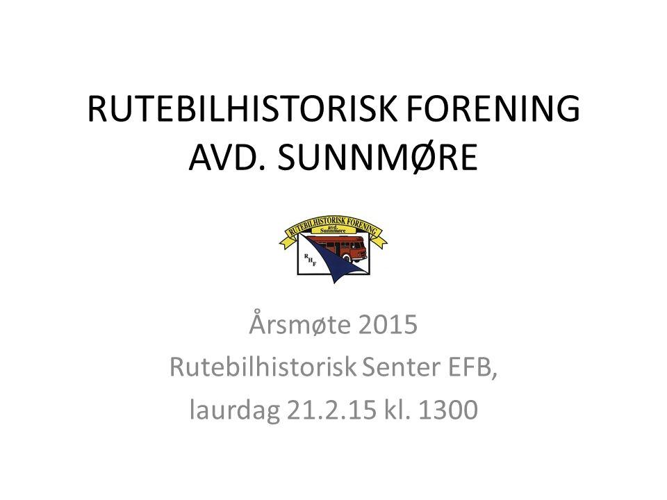 RUTEBILHISTORISK FORENING AVD. SUNNMØRE