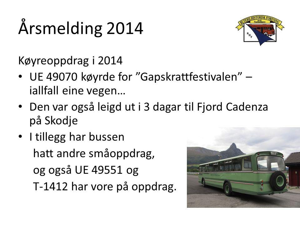 Årsmelding 2014 Køyreoppdrag i 2014