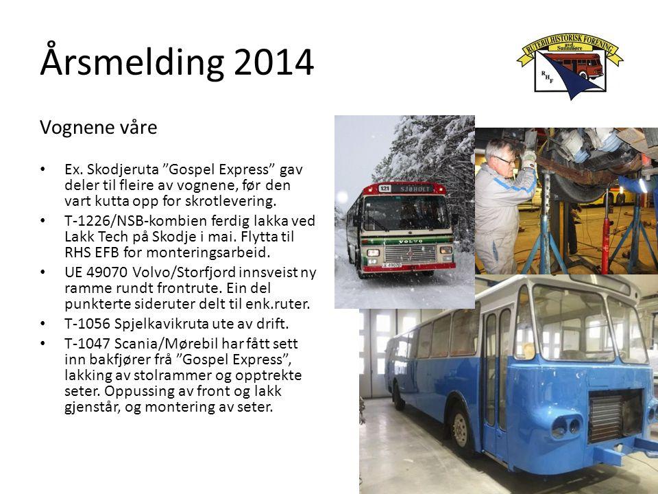 Årsmelding 2014 Vognene våre