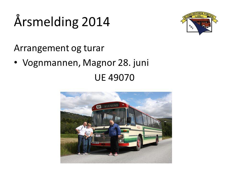 Årsmelding 2014 Arrangement og turar Vognmannen, Magnor 28. juni