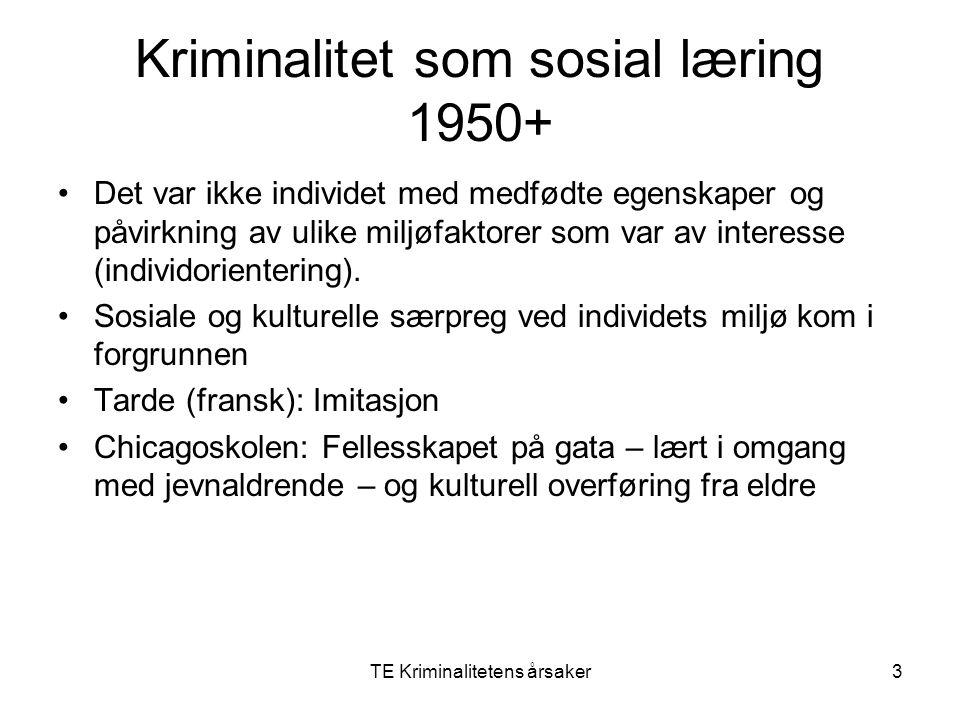 Kriminalitet som sosial læring 1950+