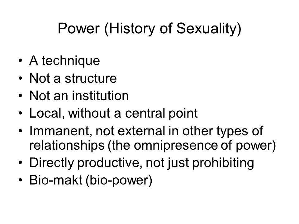 Power (History of Sexuality)