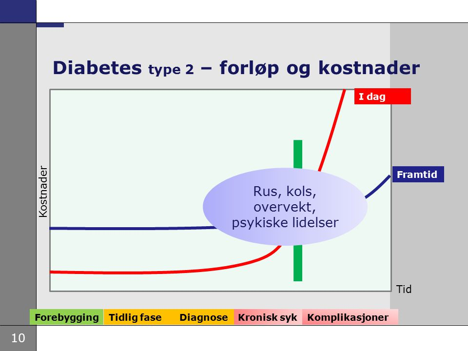 Diabetes type 2 – forløp og kostnader