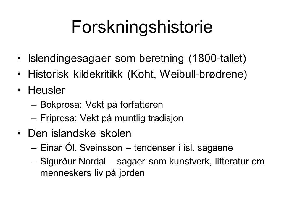 Forskningshistorie Islendingesagaer som beretning (1800-tallet)