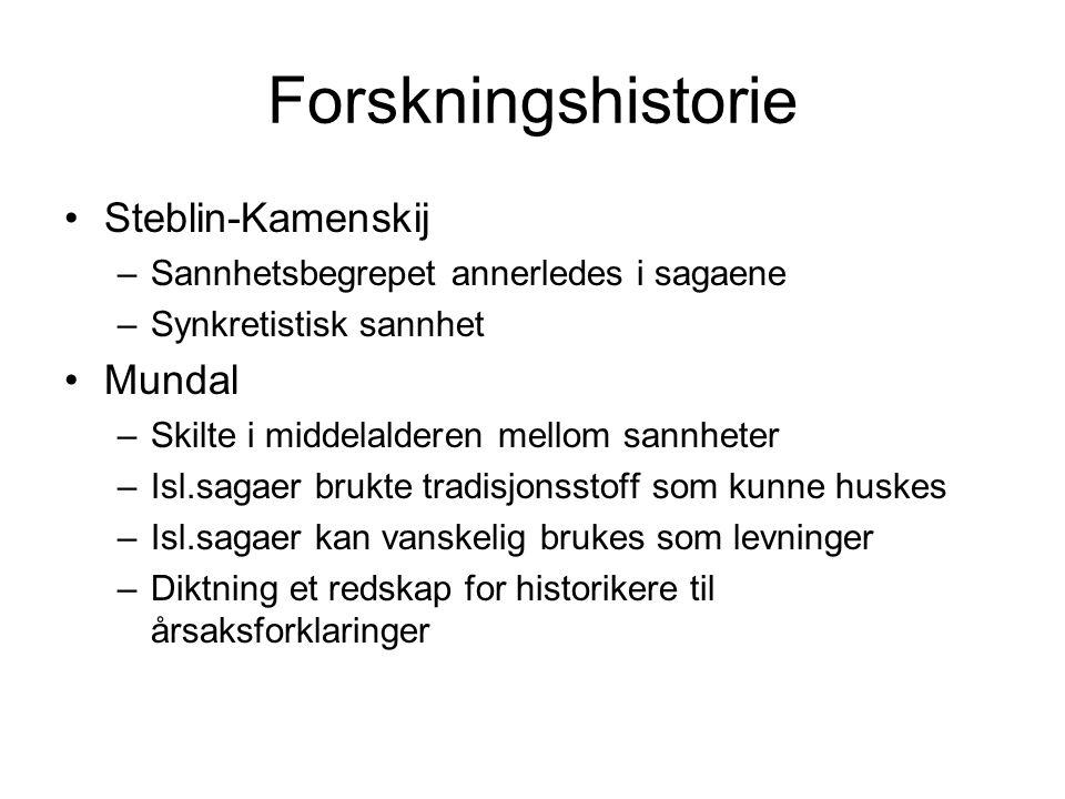 Forskningshistorie Steblin-Kamenskij Mundal