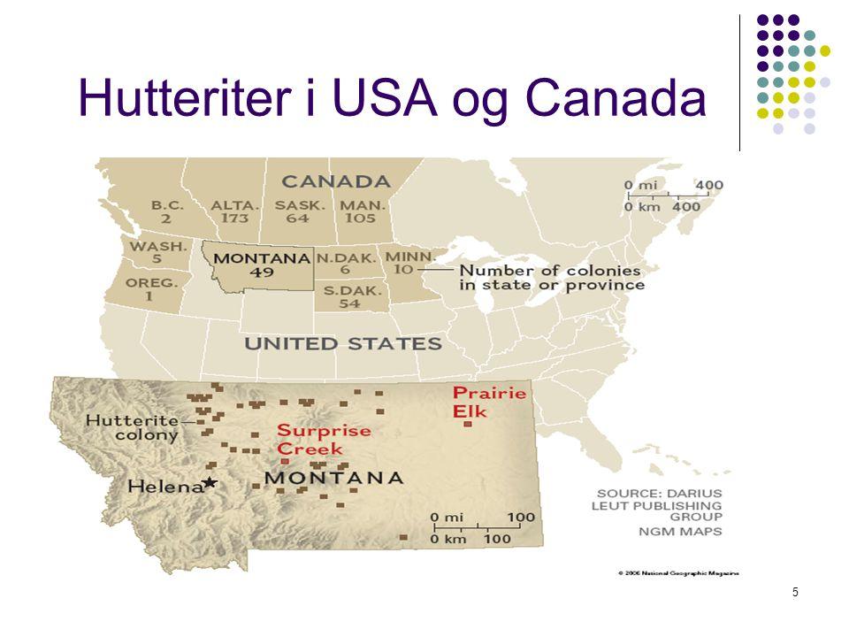 Hutteriter i USA og Canada