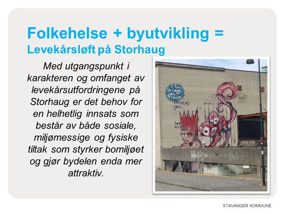 Folkehelse + byutvikling = Levekårsløft på Storhaug