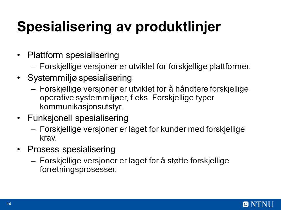 Spesialisering av produktlinjer