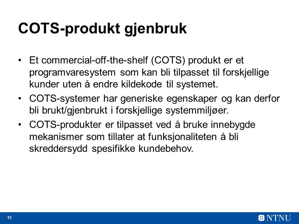 COTS-produkt gjenbruk