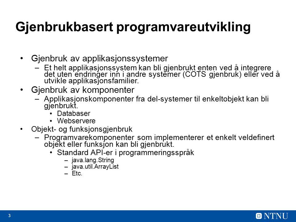 Gjenbrukbasert programvareutvikling