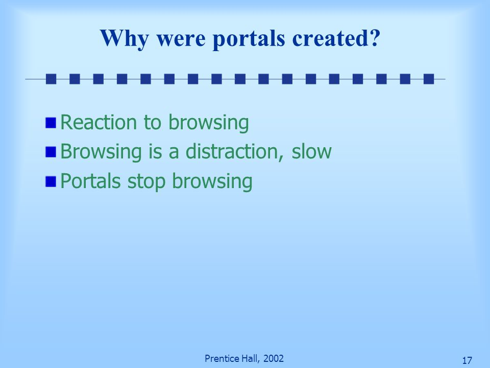 Why were portals created