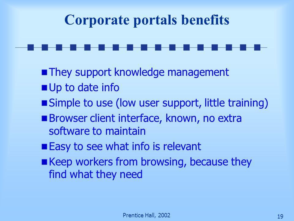 Corporate portals benefits