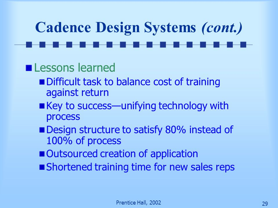 Cadence Design Systems (cont.)