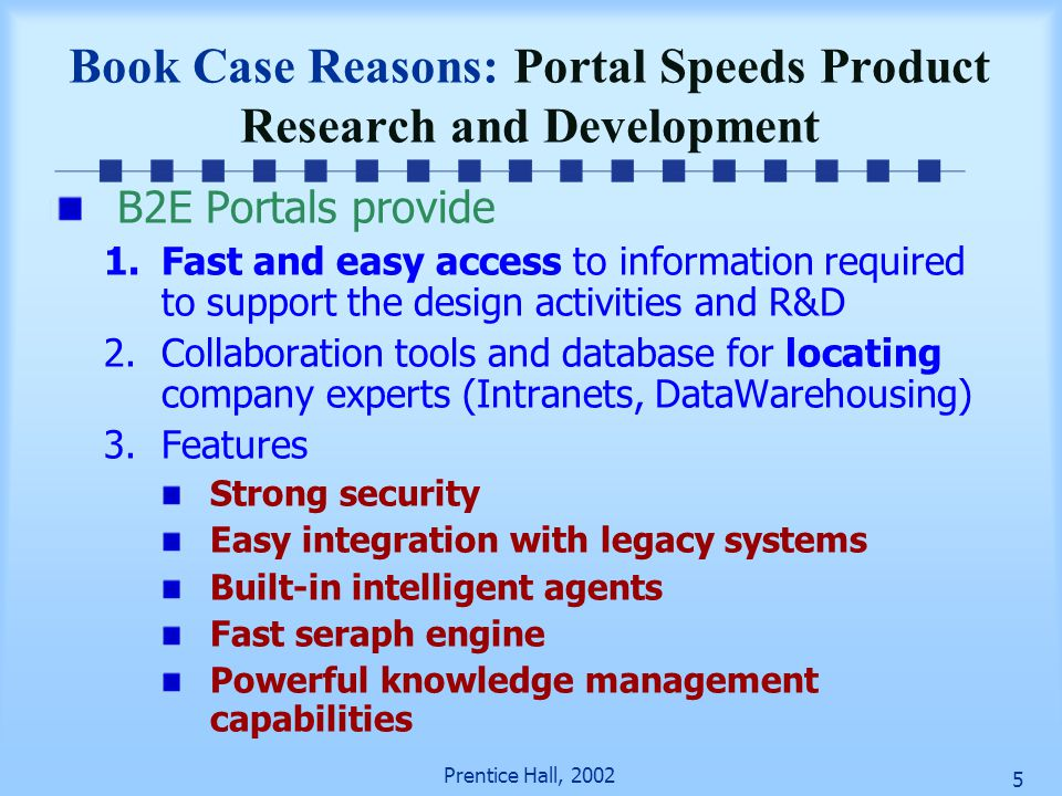 Book Case Reasons: Portal Speeds Product Research and Development
