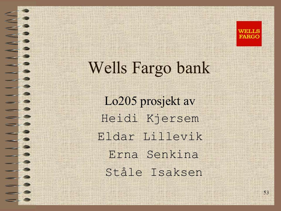 Wells Fargo bank Lo205 prosjekt av Heidi Kjersem Eldar Lillevik