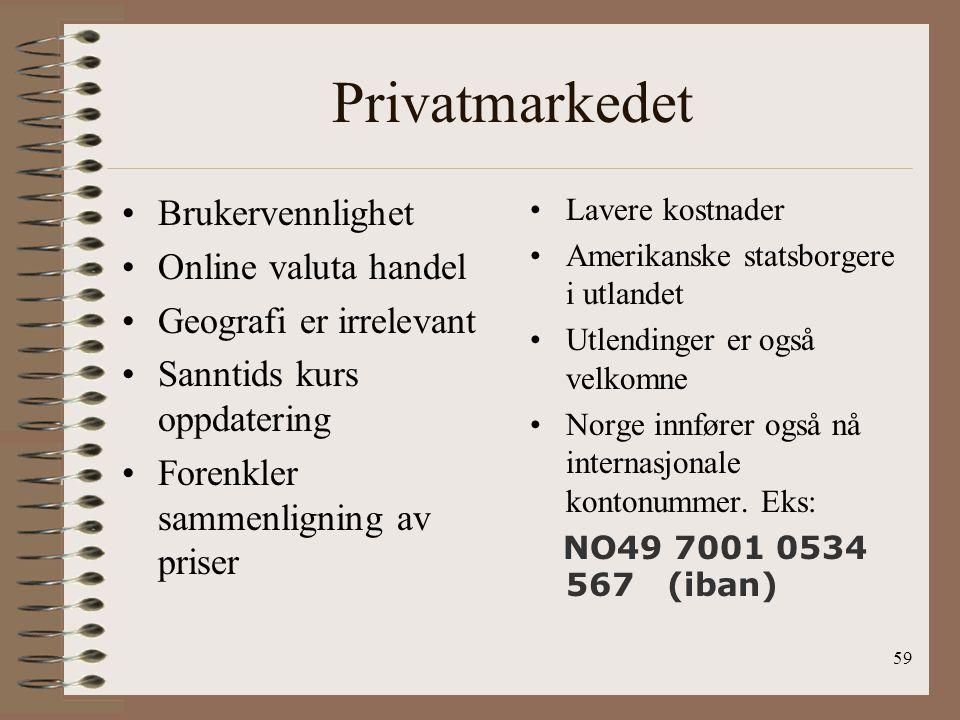 Privatmarkedet Brukervennlighet Online valuta handel