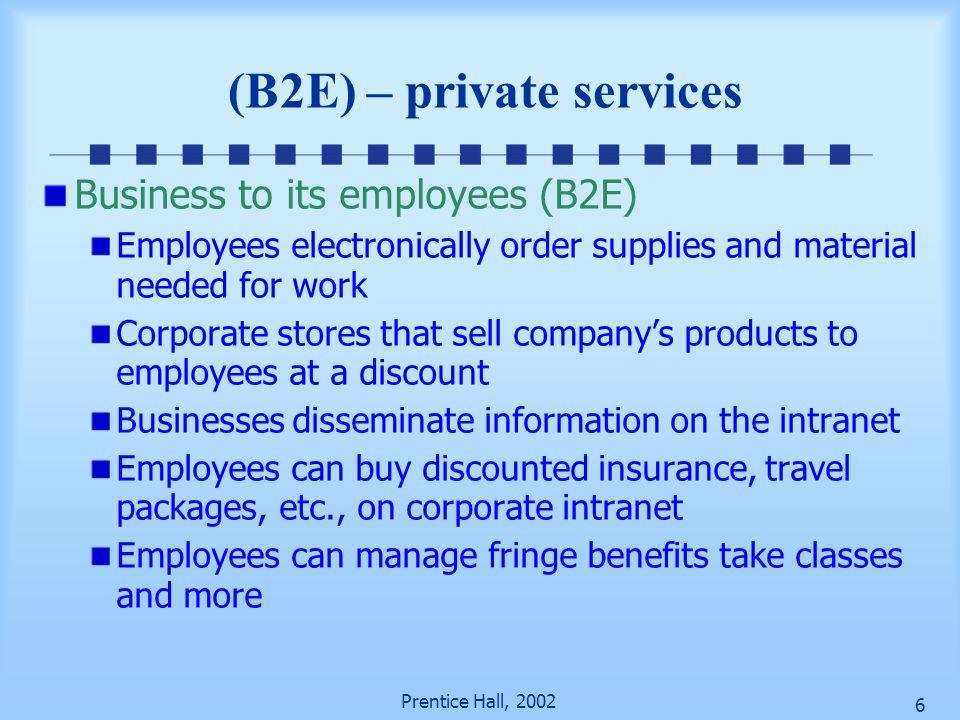 (B2E) – private services