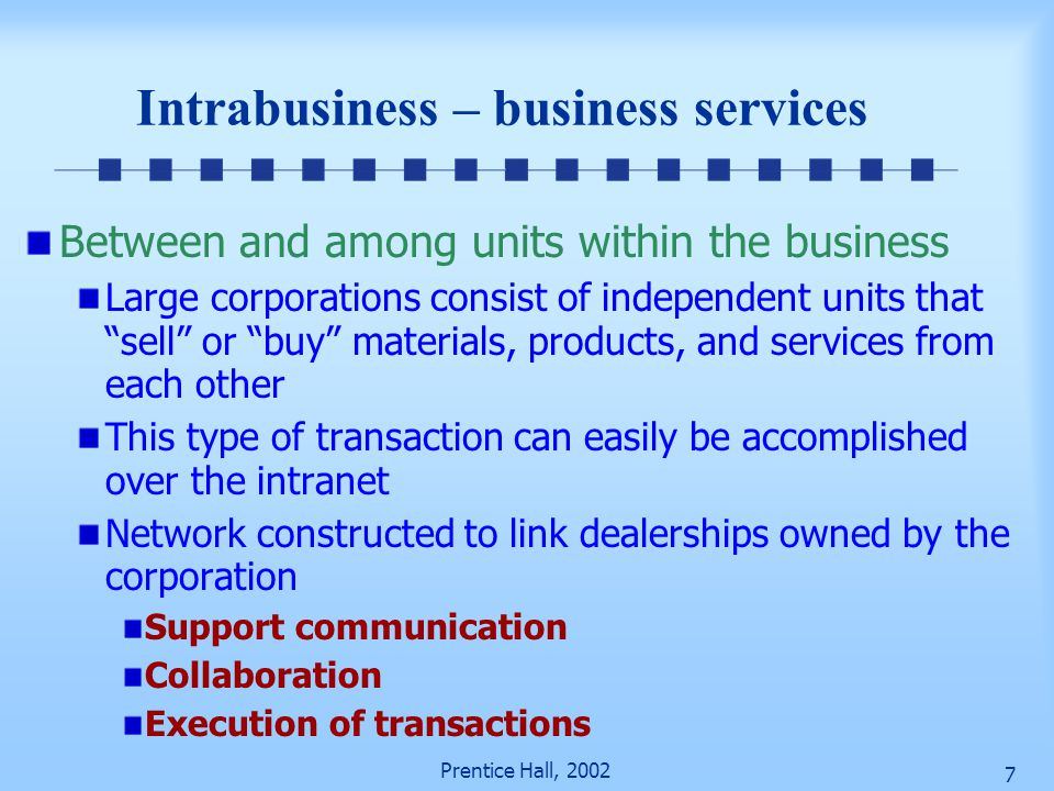 Intrabusiness – business services