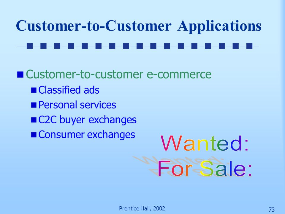 Customer-to-Customer Applications