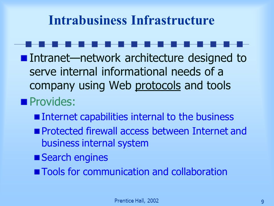 Intrabusiness Infrastructure