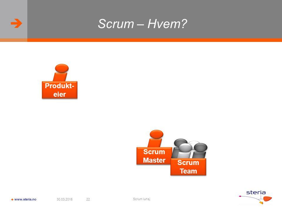 Scrum – Hvem Produkt-eier Scrum Master Scrum Team